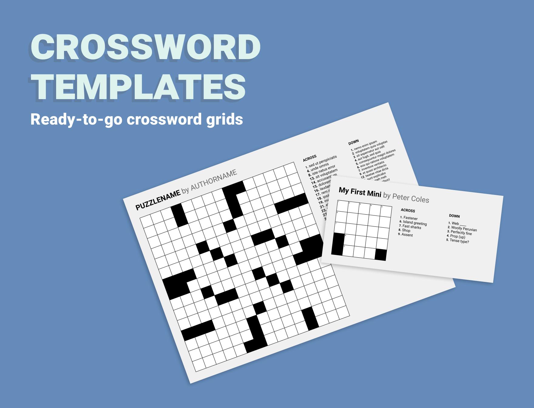 Crossword templates Figma file