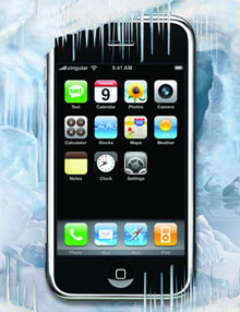frozen iphone 3g [TEST] Which phone is the best in cold climates? gadgetzz