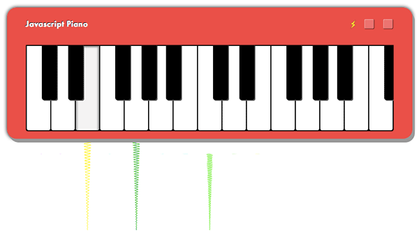 html5 javascript piano with data uris