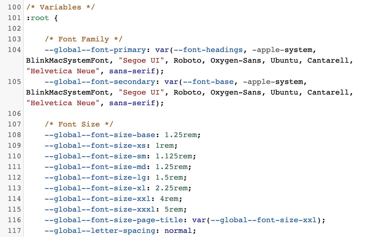 style.css variables