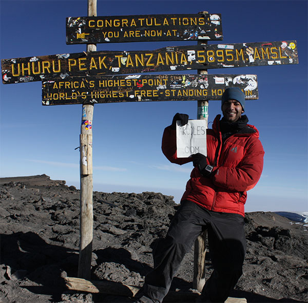 Volkan Gurel on Mount Kilimanjaro with MrColes.com